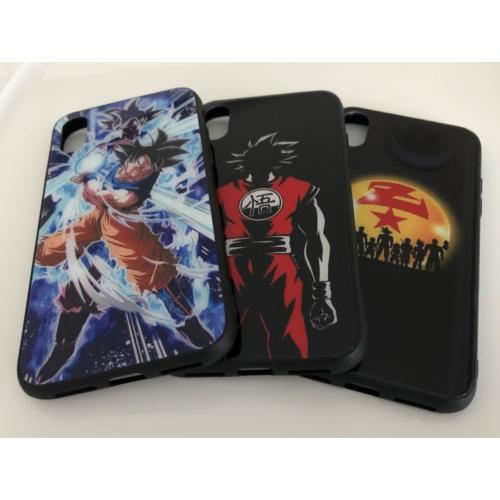 Iphone Dragon Ball mintás, fekete szilikon tok